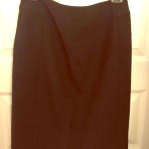 Loft black ponte skirt